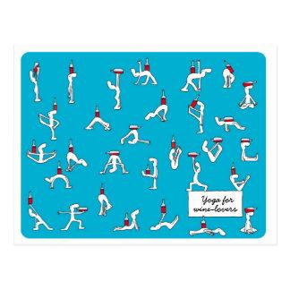 Yoga pour la carte postale de Winelovers