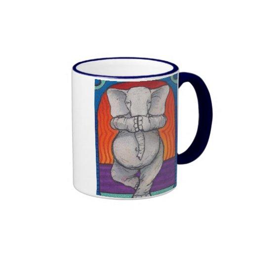Yogaphant 1 tasse manipulée bleue de sonnerie