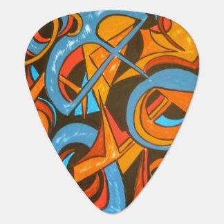 Yogi du guerrier un - art abstrait peint à la main onglet de guitare