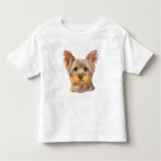 Yorkie jaune - enfant en bas âge t-shirt