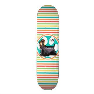 Yorkie Rayures lumineuses d arc-en-ciel Plateau De Skateboard