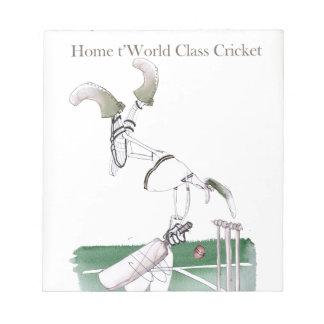 Yorkshire 'à la maison au cricket de classe du bloc-note