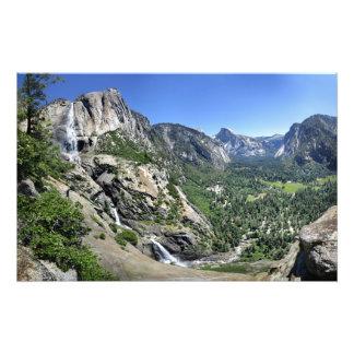 Yosemite Falls et demi de dôme oh de mon ça alors Impression Photo