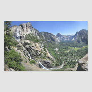 Yosemite Falls et demi de dôme oh de mon ça alors Sticker Rectangulaire