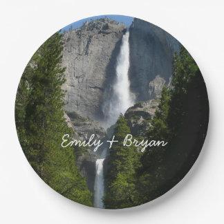 Yosemite Falls II de parc national de Yosemite Assiettes En Papier