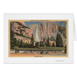 Yosemite, vue de CA de loge et d'automnes de Cartes