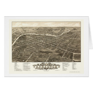 Youngstown, carte panoramique de l'OH - 1882