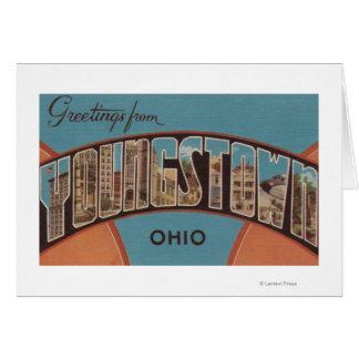 Youngstown, Ohio - grandes scènes de lettre Carte De Vœux