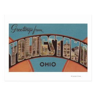 Youngstown, Ohio - grandes scènes de lettre Carte Postale