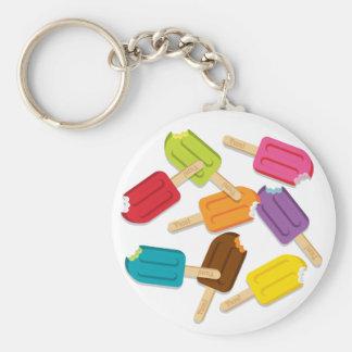 Yum ! Porte - clé de Popsicle - rond Porte-clé Rond