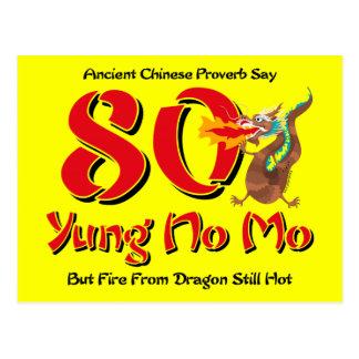 Yung aucune quatre-vingtième invitation de carte