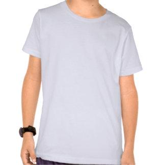 Zach et Sarah blancs et bleu a badiné la pièce en T-shirts