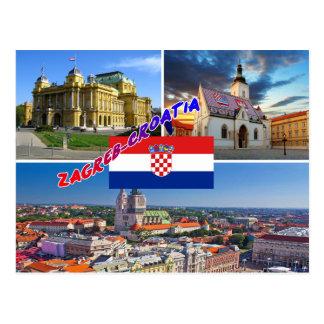 Zagreb Croatia Carte Postale