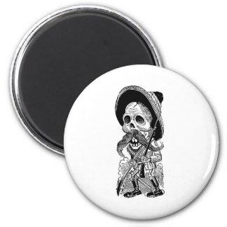 Zapatista Calavera c 1900 s tôt Le Mexique Magnets