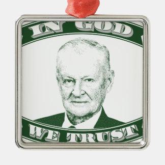 Zbigniew Brzezinski dans Dieu que nous faisons Ornement Carré Argenté