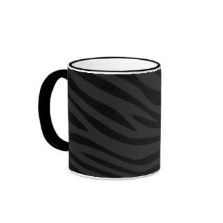 Zebbra barre le noir mat tasses à café