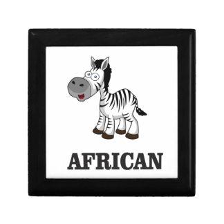 Zèbre africain petite boîte à bijoux carrée