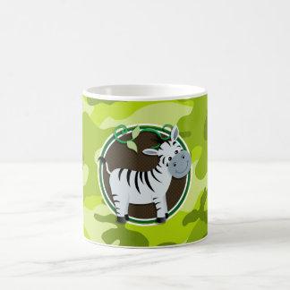 Zèbre camo vert clair camouflage tasse à café