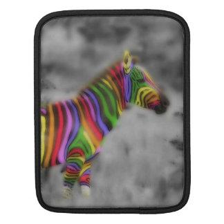 Zèbre d'arc-en-ciel poches pour iPad