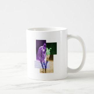 Zèbre d'arc-en-ciel mug à café