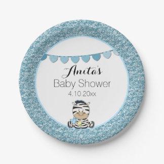 Zèbre de bébé assiettes en papier