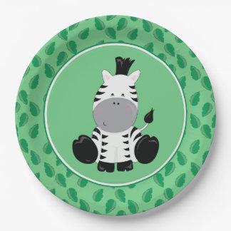 Zèbre de bébé des animaux | de safari assiettes en papier