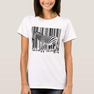 Zèbre de code barres t-shirt