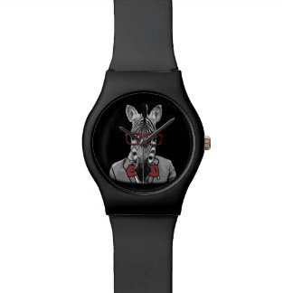 Zèbre de hippie montres bracelet
