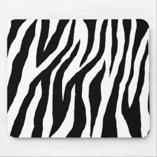 Zèbre noir et blanc sauvage tapis de souris
