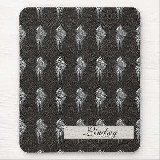 Zèbre noir Mousepad personnalisé par motif Tapis De Souris