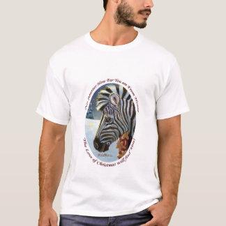 Zèbre pour le T-shirt d'adulte de Noël