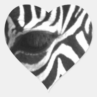 Zèbre Sticker Cœur