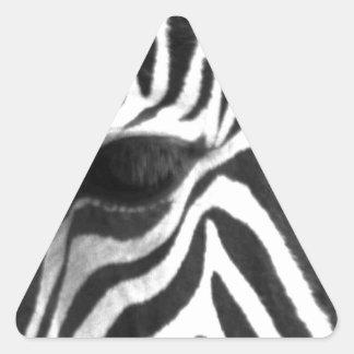 Zèbre Sticker Triangulaire