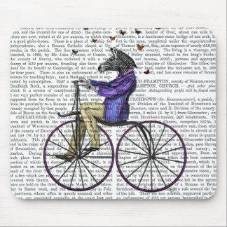Zèbre sur la bicyclette tapis de souris