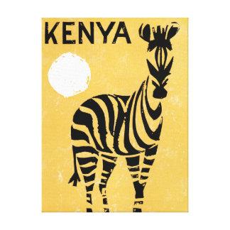 Zèbre vintage du Kenya Afrique Toile