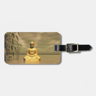 Zen Bouddha méditant Étiquette Pour Bagages