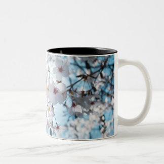 Zen japonais de fleurs de cerisier tasse 2 couleurs