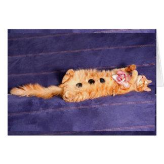 zen pour des chats, traitement de spa d'animal fam carte de vœux