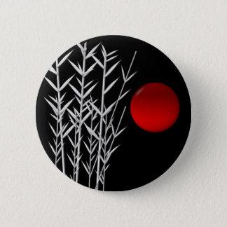 Zen rouge de blanc de noir du soleil badge