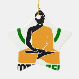 Zen total - paix, tranquilité, relaxation ornement étoile en céramique