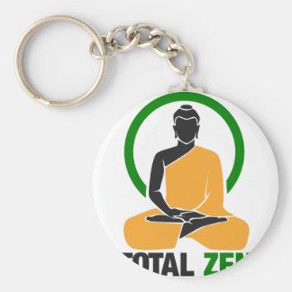 Zen total - paix, tranquilité, relaxation porte-clé rond