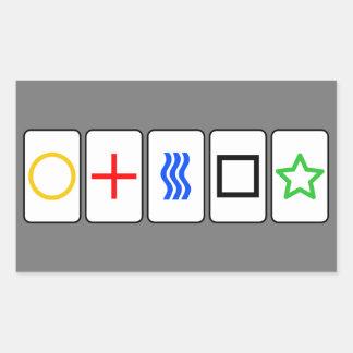 Zener carde l'autocollant - gris sticker rectangulaire