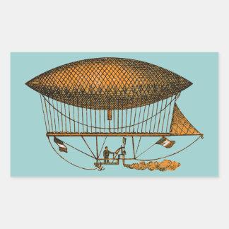 Zeppelin de déplacement du cru 1883 autocollants en rectangle