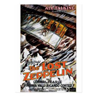 Zeppelin perdu carte postale