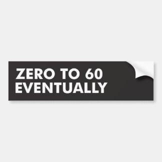 Zéro à 60 par la suite autocollant de voiture