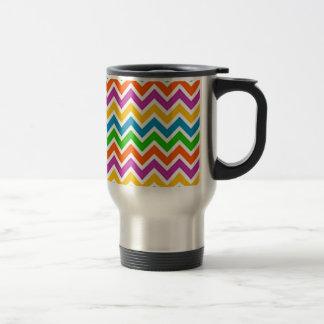 zigzag de fin de support de padrão mug de voyage en acier inoxydable