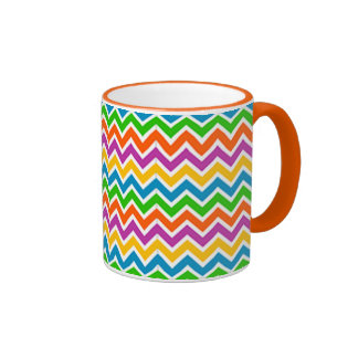 zigzag de fin de support de padrão mug ringer