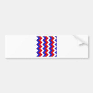 Zigzag I - Blanc, rouge et bleu Autocollant Pour Voiture