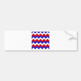 Zigzag I - Blanc, rouge et bleu Autocollants Pour Voiture