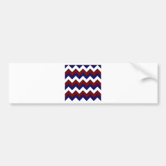 Zigzag I - Blanc, rouge foncé et bleu-foncé Autocollants Pour Voiture